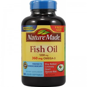 Dầu cá Nature Made Fish oil Omega 3 1200mg 200v