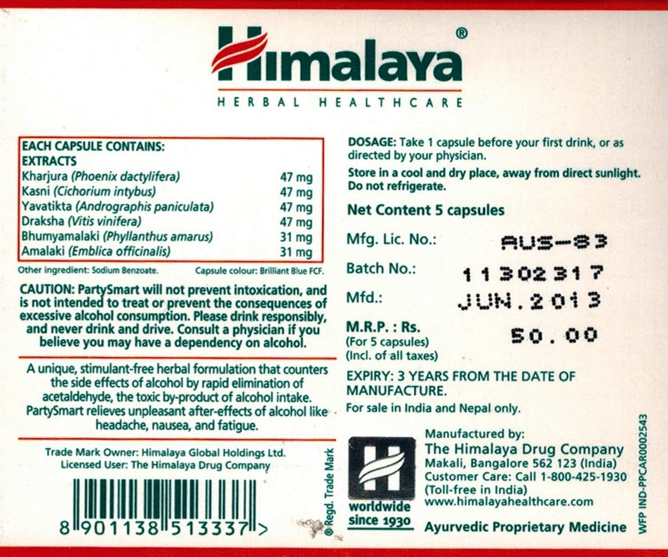 what ingredients are in himalaya partysmart